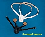 Carry Belt - Flagpole Harness - Leather -Double Strap